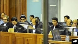 Khmer Rouge leader Noun Chea remains in the hospital, and the UN-backed Khmer Rouge tribunal has announced no more hearings for this week.