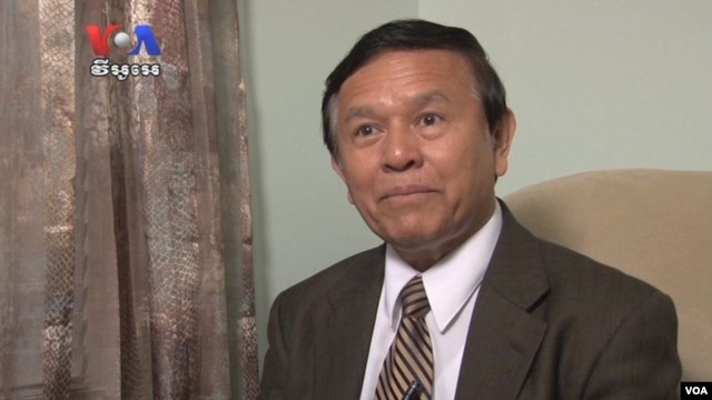 Kem Sokha, vice president of the Cambodia National Rescue Party, talked to VOA Khmer earlier this year. (VOA Khmer)