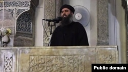 ابوبکر البغدادی در مسجد جامع نورالدین شهر موصل سخنرانی کرد