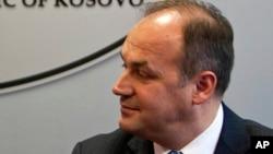 FILE -Kosovo Foreign Affairs Minister Enver Hoxhaj.