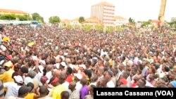 Manifestação do PAIGC em Bissau. 17 Agosto 2015 Guiné-bissau