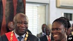 Laurent Gbagbo et son épouse Simone