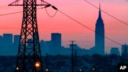 동틀 무렵 뉴욕시 정경 (자료사진)