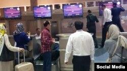 هک نمایشگرهای فرودگاه تبریز