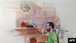 Nghi can Amine El Khalifi trước tòa án ở Alexandria, Virginia, ngày 17 tháng 2, 2012
