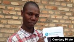 Jerome Ndayambaje, umwe mu banyarwanda bazitabira gahunda ya YALI muri Leta zunze ubumwe z'Amerika