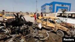 汽車炸彈爆炸現場