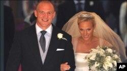 برطانوی شہزادی زارا نہایت سادگی کے ساتھ رشتہ ازدواج میں بندھ گئیں