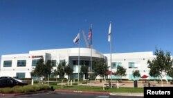 中國電信技術巨商華為在美國加州矽谷的大樓。