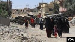 Wasu suke gudun rikicin da ake yi a Mosul