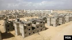 Proyek perumahan UNRWA di Khan Younis, Jalur Gaza selatan yang masih dalam tahap penyelesaian (foto: dok). UNRWA berencana membangun sekolah ramah lingkungan untuk warga Palestina.