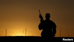 A US soldier in Afghanistan's Zabul province (file photo).
