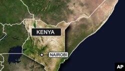 Bản đồ khu vực Kenya.