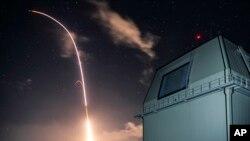 ABŞ-ın Raket Əleyhinə Müdafiə agentliyinin təqdim etdiyi fotoda Aegis raket müdafiə sistemi göstərilir, 10 dekabr, 2018.