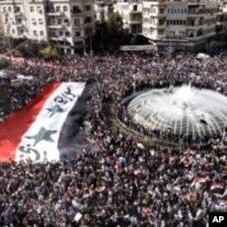 شام میں حکومت مخالف مظاہرہ