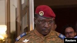 Le lieutenant Colonel Yacouba Isaac Zida, Premier ministre de la transition au Burkina Faso