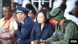 蔡英文:演习视同作战,落实全民国防的概念