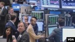 美国股市(视频截图)