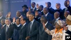 Vashingtonda o'tgan AQSh-Afrika yetakchilari sammiti ishtirokchilari, 6-avgust, 2014-yil.