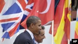 奥巴马抵达法国出席20国集团经济峰会
