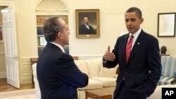 奥巴马总统和卡尔德隆总统去年5月19日曾在白宫会晤(资料照片)