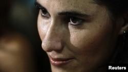 La bloguera Yoani Sánchez fue arrestada el jueves y puesta en libertad el viernes.