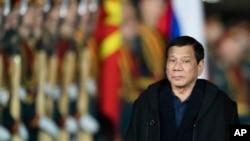 Президент Филиппин Родриго Дутерте. Москва, Россия. 22 мая 2017 г.