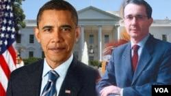 El presidente Obama se reunió por primera vez con el presidente Uribe (Colombia) en la Casa Blanca.