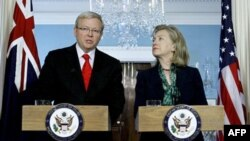 Хиллари Клинтон и Кевин Радд