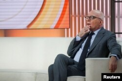 Author Michael Wolff is seen on the set of NBC's Today show prior to an interview about his book Fire and Fury: Inside the Trump White House in New York City, Jan. 5, 2018.