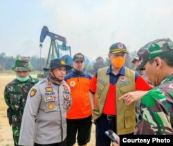 Kepala BNPB Doni Monardi di Riau, Rabu, 11 September 2019. (Foto: BNPB)
