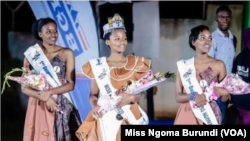 Anne Niyera wabaye Miss Ngoma, (hagati) na Begenzi be
