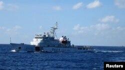 Tàu của cảnh sát biển Trung Quốc tuần tra trong vùng Biển Đông.