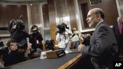 美国联邦储备银行主席伯南克星期二在国会作证