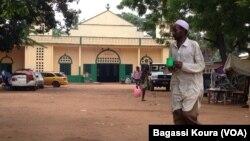 La mosquée centrale du quartier KM5 de Bangui, 06 avril 2014, photo Bagassi Koura, VOA French.