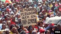 Imagem de arquivo - Manifestação no Cafunfo