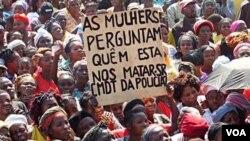 Manifestação no Cafunfo
