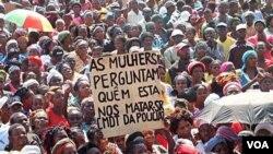 Manifestação na Lunda Norte Cafunfo Lunda Norte