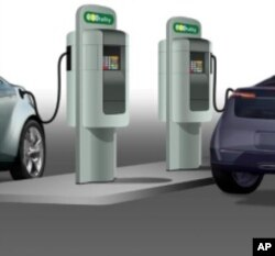 Rendering of fast-charging station for electric cars