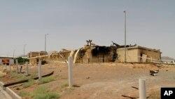 Natanz uranyum zenginleştirme tesisinde Temmuz ayındaki yangında zarar gören binalardan biri.