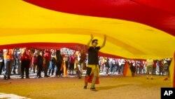 تظاهرات مردم اسپانیا در حمایت از وحدت