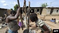 Sinh hoạt của dân chúng trong một ngôi làng của Côte d'Ivoire gần biên giới Liberia
