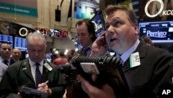 紐約股票市場密切注視烏克蘭局勢