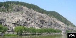 Longmen grottos in Henan Province.