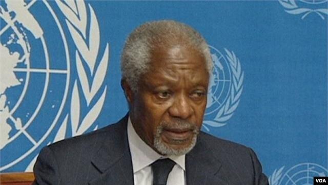 FILE - Kofi Annan
