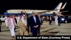 John Kerry da ministan harkokin wajen Saudiya Adel al-Jubeir