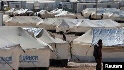 Trại tỵ nạn Al Zaatri cho người Syria ở Mafraq, Jordan, gần biên giới với Syrian