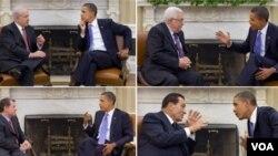 Previo al inicio de las negociaciones de paz, el presidente Barack Obama se reunió con Benjamín Netanyahu, Mahmoud Abbas, el rey Abdullah de Jordania y el presidente egipcio Hosni Mubarak.