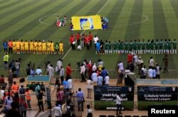 Sepak bola liga wanita pertama Sudan (Foto: Reuters)