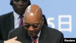 Le président Jacob Zuma de l'Afrique du Sud
